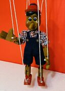 """Vintage Carved Wooden Marionette Puppet Pinocchio 10"""""""