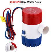 1100gph 12v Electric Marine Submersible Bilge Sump Water Pump For Boat Yacht Us