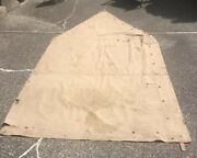 Usmc Old Breed Wwi-wwii Khaki Shelter Half Rare Not Repro And Not Surplus
