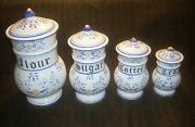 Vintage 8 Piece Canister Set. Heritage By Royal Sealy. Circa 1950s Made In Japan
