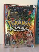 Official Pokemon Platinum Version Strategy Guide Book W Poster Nintendo Ds 2009