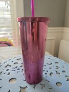 Starbucks Berry Pink Stainless Steel Large Cold Cup Tumbler 24 Oz  11070161