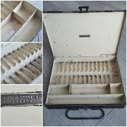 Vintage Antique George Romney And Co Painting To Oil Box Metal