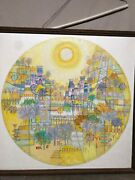 Heshi Yu Oil Painting Signed 1970 And039s Mid Century Modernist Chinese American