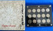 1950 To 1964 U.s. Proof Jefferson Nickels W/ Capital Holder 15 Silver Coin Set