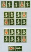 Ndh Croatia German Puppet State 1942 Red Cross Ra1 Selection Labels Perfect Mnh