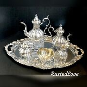 Reed And Barton Winthrop Tea Set Hand Chased / Renaissance Silverplated