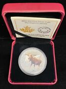 2015 Canadian The Majestic Moose 20 1 Oz. Fine Silver Proof Colorized Coin