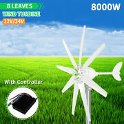 8kw 8 Blades Wind Turbines Generator Dc 24v With Power Charge Controller