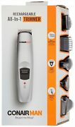 Conair Man Rechargeable All-in-1 Trimmer One Size Silver