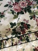 2pc Waverly Pleasant Valley Chianti Full Bed Fitted And Flat Sheet Set Floral