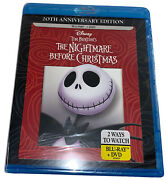 New The Nightmare Before Christmas Blu-ray And Dvd Disc, 2013, 20th Anniversary