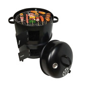 Diy Smoker Bbq Grill Round Charcoal Stove Outdoor Bacon Portable Barbecue Grills
