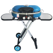 Integrated Portable Trolley Bbq Grill Outdoor Camping Barbecue Oven Gas Stove