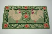 Vintage 80and039s Dolores Kott-keene Dollhouse Miniature 112 French Knot Hooked Rug