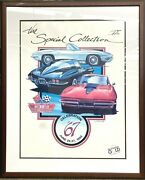 1992 Bloomington Gold Gm Peter Lawlis Corvette Special Collection Signed Print