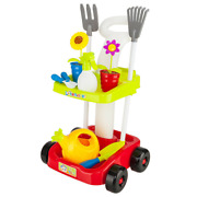 Home Garden Tool Set For Kids Toys W / Cart To Carry Your Favorite Tools. Multic