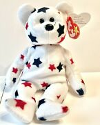 Very Rare - Ty Beanie Baby Andldquogloryandrdquo Without Flag With Tag Errors 418.