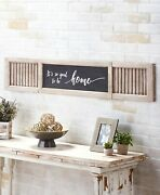 Oversized Wall Shutter Sign Country Rustic Farmhouse Home Decor