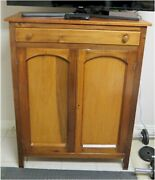 Antique Jelly Cupboard / Pie Safe Tin Punched Sides Various Woods