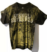 Nwt Avenged Sevenfold Skeleton Concert T-shirt Double Sided Graphics