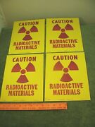 4 Caution Radioactive Materials Signs Nuclear Associates Carle Place Ny