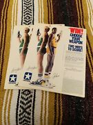 1986 Larry Bird Magic Johnson Converse Shoes Poster Ad Sweepstakes Nm/m 98xbound