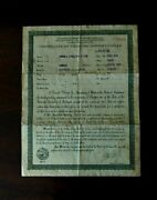 1928 International School Bus Indiana Certificate Of Title Historical Document