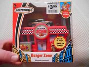 Matchbox Burger Zone Playset With Burger Zone Car New 2004 Snaps To Other Sets