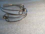 Mexican Sterling Silver Cuff Type Arm Bracelet Adjustible Cute