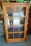 Oak Arts And Crafts Style Bookcase
