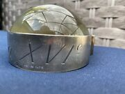 Hermandegraves A La Xvie Desktop Paperweight Magnifying Glass In Silver 1960s France