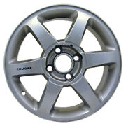 Oem Reman 16x6.5 Alloy Wheel Polished Full Face With Black Cougar Sticker-3378