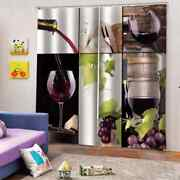 Mellow And Delicious Red Wine Printing 3d Blockout Curtains Fabric Window