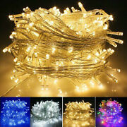 100/200/500/1000 Led Fairy String Lights Plug In Wedding Christmas Party Outdoor