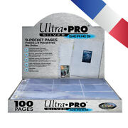 Ultra Pro 100 Feuilles A4 Silver Series 9 Cases / Page - 9-pocket Pages Pokemon