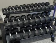 Local Pickup Only - Vtx 5-75lb Rubber Dumbbell Set Without Rack