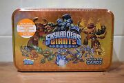 Topps Skylanders Giants Collectors Tin 35 Cards One Limited Edition And Dog Tag