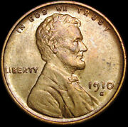 1910-s Lincoln Cent Wheat Penny ---- Gem Bu Details ----- N982
