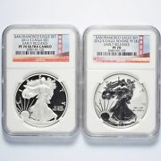 2012-s Silver American Eagle Two-coin Proof Set Ngc Pf70 Early Releases