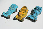 Restorer's Project 3, 1950's Vintage Diecast Tootsietoy Cars Lot 4 Of 11 Lots