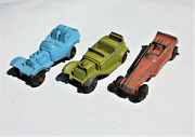 Restorer's Project 3, 1950's Vintage Diecast Tootsietoy Cars Lot 7 Of 11 Lots