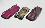Restorer's Project 3, 1950's Vintage Diecast Tootsietoy Cars Lot 9 Of 11 Lots