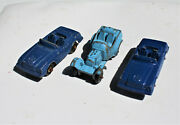 Restorer's Project 3, 1950's Vintage Diecast Tootsietoy Cars Lot 10 Of 11 Lots