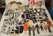 6 Vintage 60andrsquos 70andrsquos Gi Joe And Lots Of Accessories Weapons Clothes Guns 200+