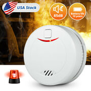 Home Fire Smoke Alarm Detector With 10 Years Life Battery Home Fire Safety