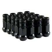 For Gmc Caballero 82-87 Lug Nuts Black Chrome Cone Seat Forged Steel Racing Open