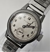 Rare 1947 Vintage Bulova Military Post-wwii Stainless Steel Men's Watch