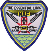 4.5 Naf Lajes Naval Air Facility Field Essential Link Shield Embroidered Patch