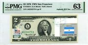 2 Dollars 1976 Stamp Cancel Flag Un From Argentina Lucky Money Value 3000